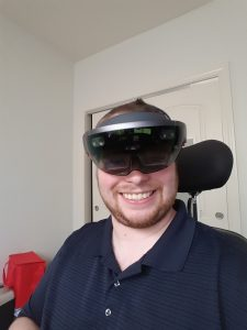 Matt wearing the Hololens