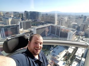 Matt in Las Vegas riding the High Rider